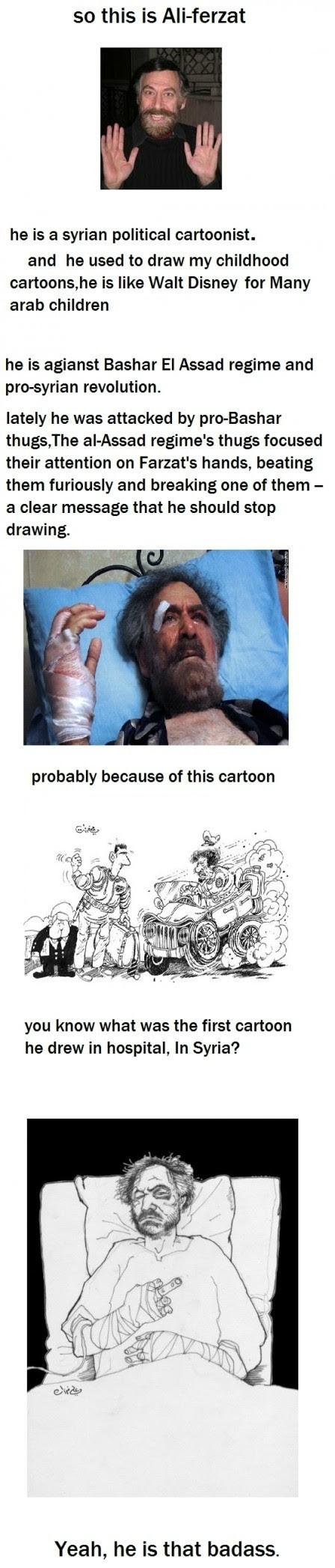 The Tale Of Syrian Cartoonist Ali Ferzat