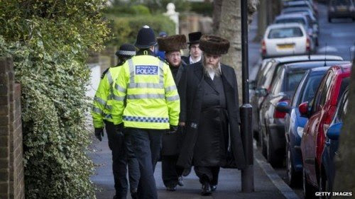There are now increased police patrols in areas of England with large Jewish populations