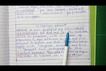 20+ Fantastic Ideas Class 11 English Advertisement Writing