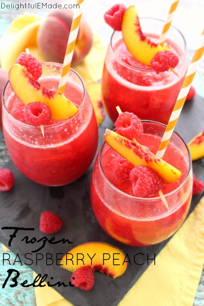 Just four ingredients are all you need to make this incredible frozen peach bellini! Slushy, fruity, and perfect anytime you're in the mood for sipping a fantastic champagne cocktail.