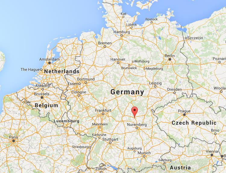 Where is Bamberg on map Germany