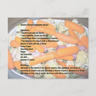 Summer Steamed Vegetable Recipe 2 Postcard