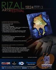 Rizal Arts Festival poster