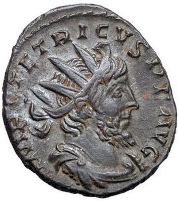 Coin Depicting Roman Emperor Tetricus