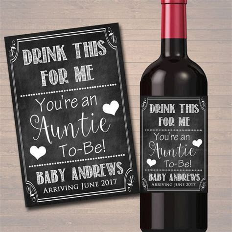 Drink This For Me You're An Auntie To Be, Beer & Wine