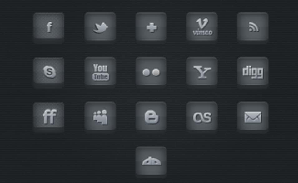 15 Dark Social Media Pack (PSD)
