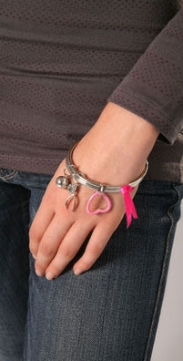 Marc by Marc Jacobs Breast Cancer Awareness Charity Charm Bracelet