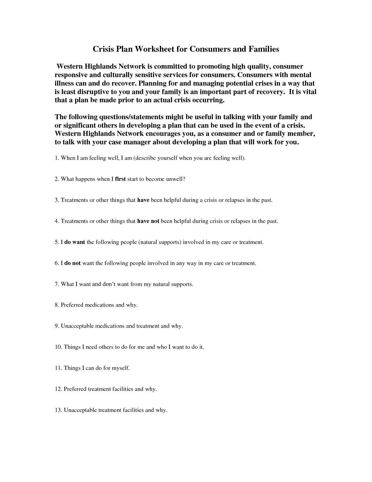 10 Best Images of Printable Recovery Worksheets ...