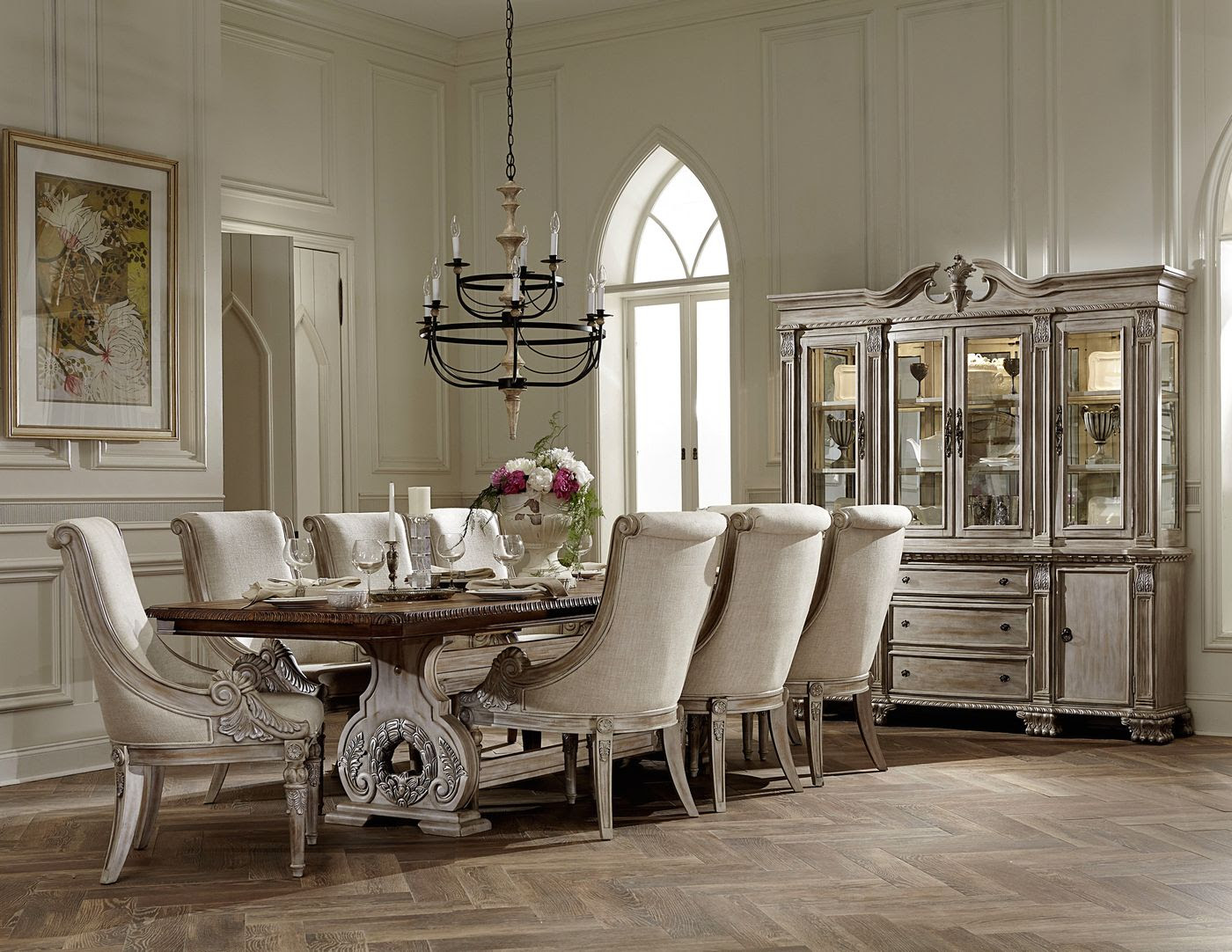 Orleans II White Wash Traditional Formal Dining Room ...
