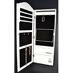 schmuckschrank spiegel schrank wandspiegel schmuckkasten wei 96 x 36 cm schr nke shop. Black Bedroom Furniture Sets. Home Design Ideas