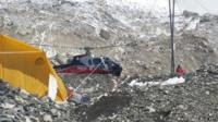 Helicopter rescue mission on Everest after the Nepal earthquake, 27 April 2015