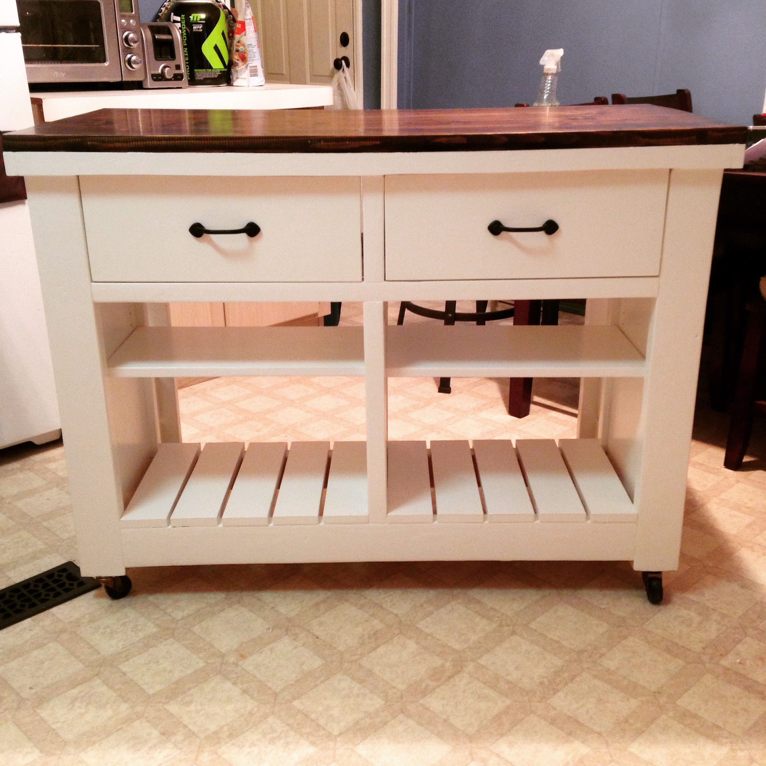 Ana White   Rustic Kitchen Island DIY - DIY Projects
