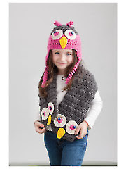 Owl Hat & Scarf Crochet Pattern - Electronic Download