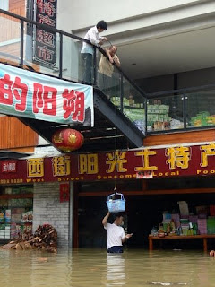 evacuation de la marchandise magasin de Yangshuo