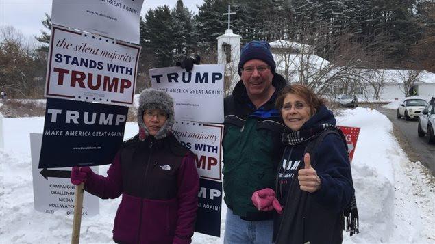 Des partisans de Donald Trump à Nashua, au New Hampshire, lors des primaires du 9 février 2016.