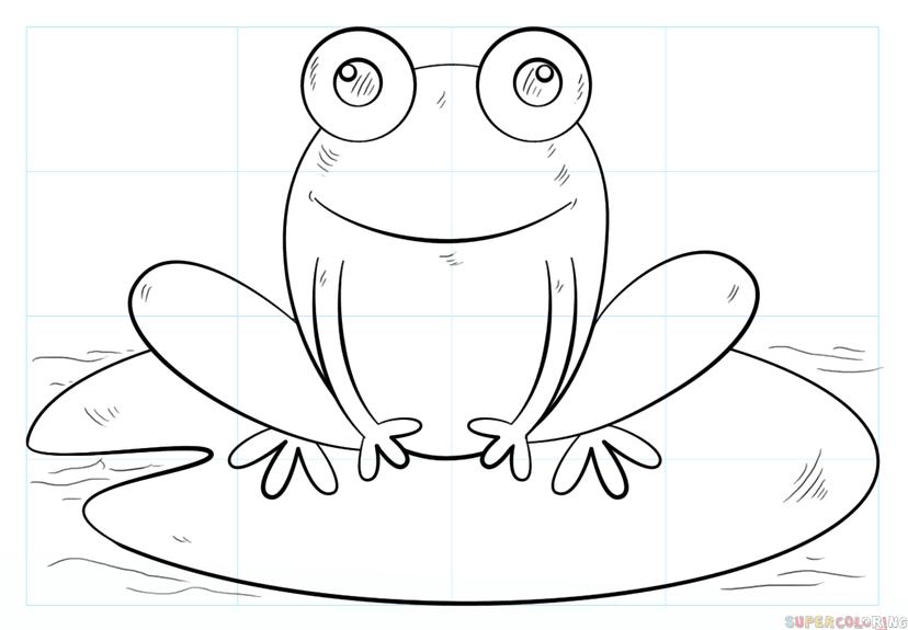 frosch malen einfach  ausmalbilder