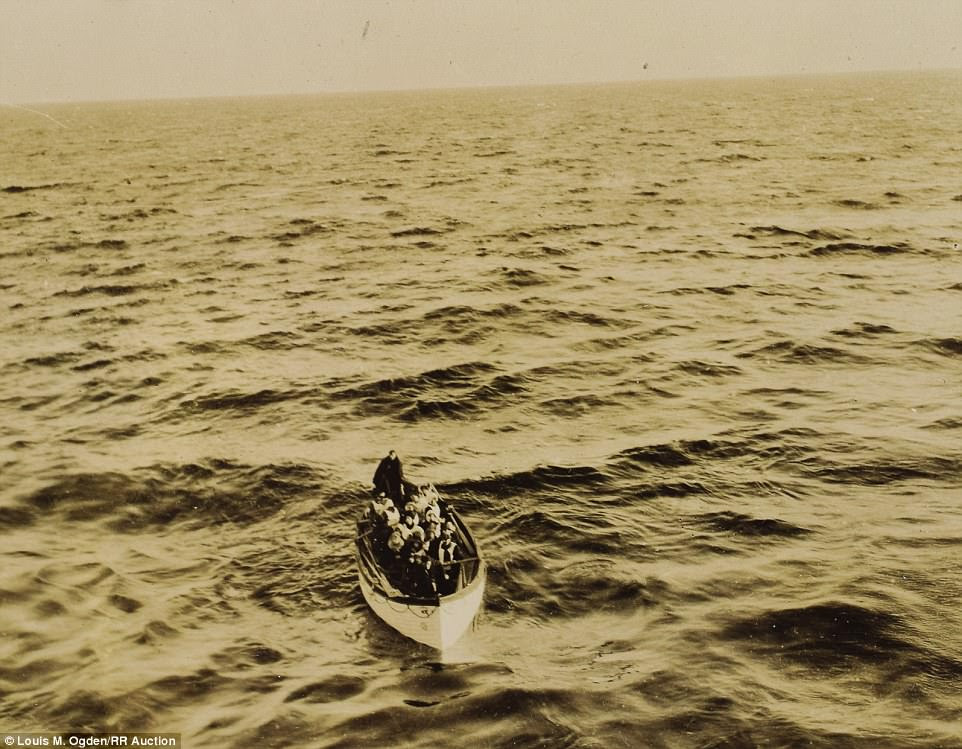 A Carpathia passenger's photos of the Titanic rescue are set to go on auction this week. One of the photos shows lifeboat no. 6 being rescued (above), which had the now famous Molly Brown on board
