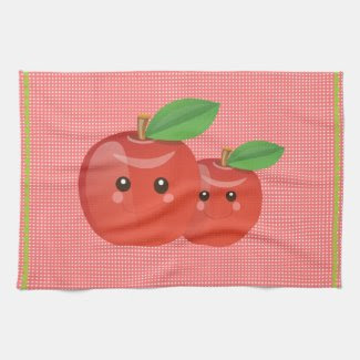Kawaii Apples Tea Towel kitchentowel