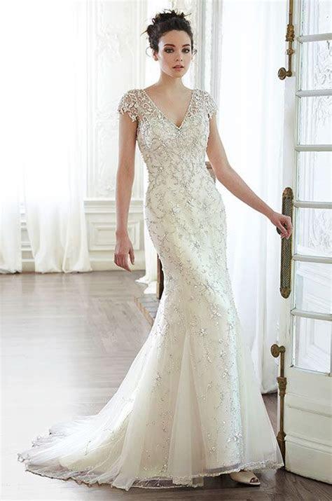 Romantic tulle wedding dress with Swarovski crystals