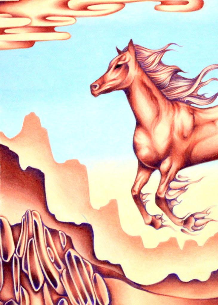 Smoking Horse Detail
