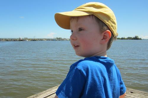 boy at the river