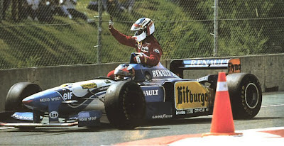 GP do Canadá de 1995: o alemão Michael Schumacher e o francês Jean Alesi