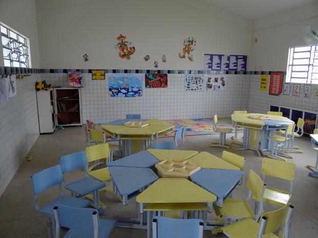 Escola Nossa Senhora de Fátima trabalha com salas temáticas. (Foto: Katherine Coutinho/G1)