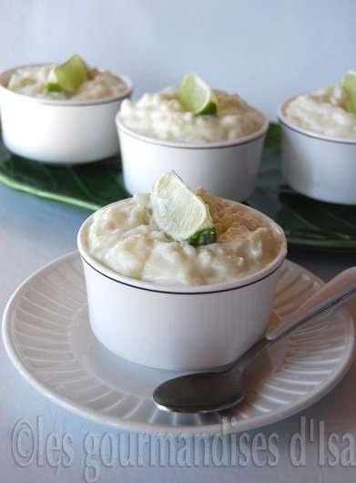 Riz cr meux au lait de coco et la lime - Riz lait de coco ...