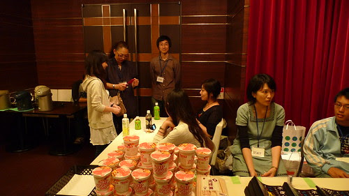The cup noodles booth