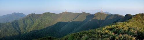 小觀音山火山口全景照