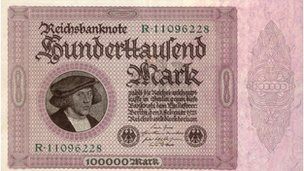 Hundred thousand reichsmark note