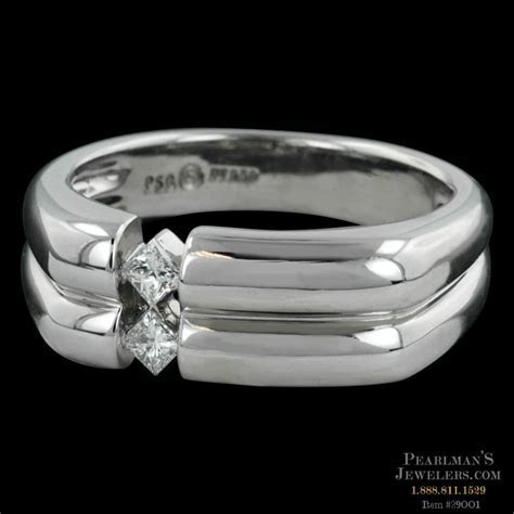 Peter Storm Platinum Naked Diamonds Mens Ring