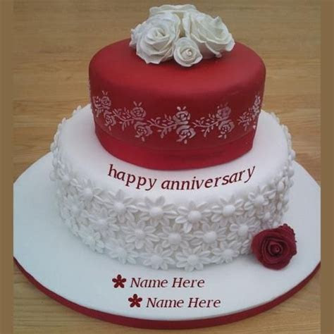 beautiful happy anniversary wishes cake pics with name
