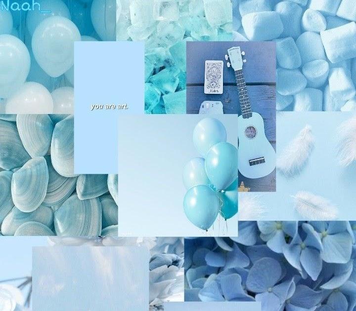 light blue aesthetic wallpaper biru aesthetic