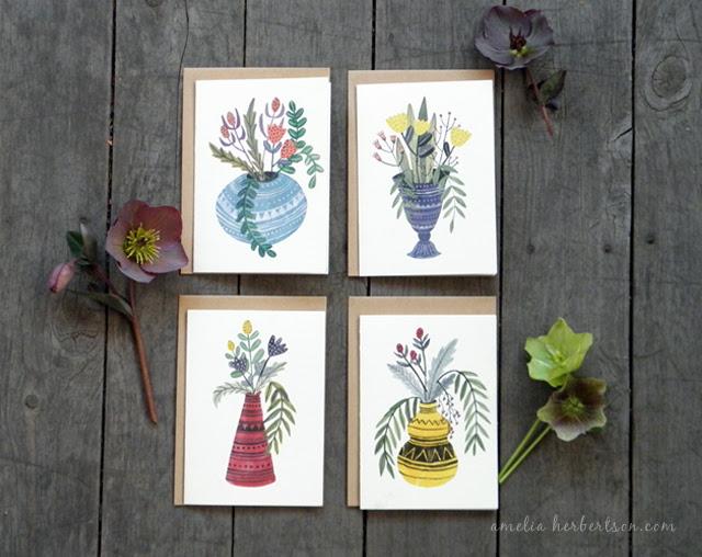 Vase Card Set