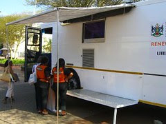 mobile library bus - canopy