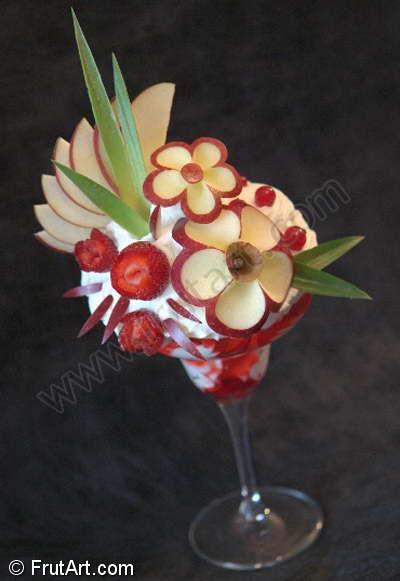 Copas Helado. FrutArt. Galeria de Fotos. Tallado de frutas.