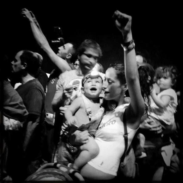 11 Ιουλίου, Μαδρίτη . Είσοδος της πορείας των Αστουριανών ανθρακορύχων
