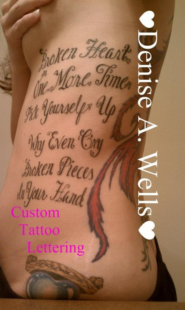 70 awesome tattoo fonts designs cuded tattoona lyrics lettering tattoo thecheapjerseys Gallery
