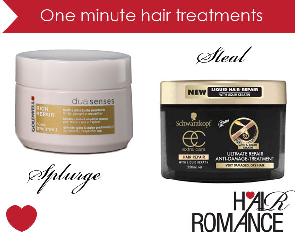 One minute hair treatments  Hair Romance