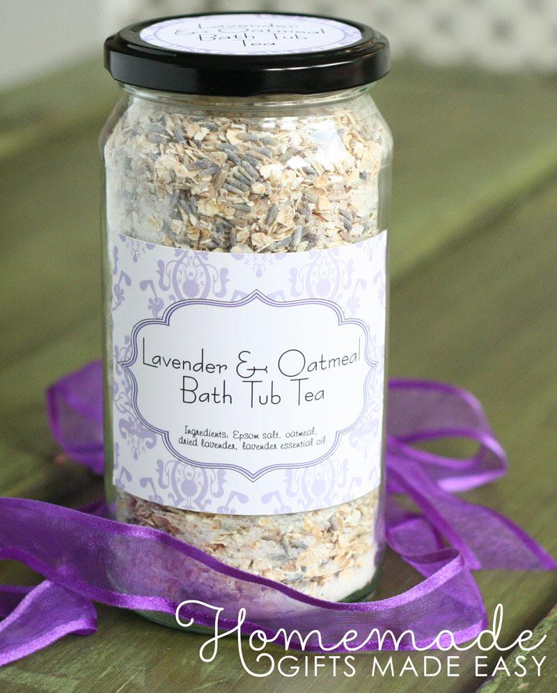 holiday gift ideas for women homemade oatmeal bath tea recipe