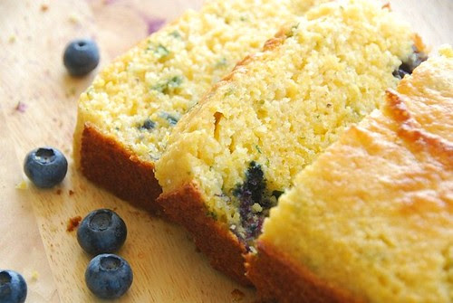 blueberry cornbread slices
