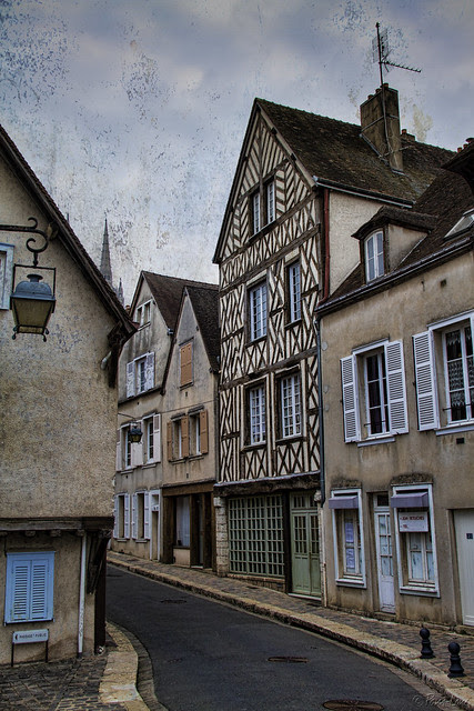 Chartres half-timbered house
