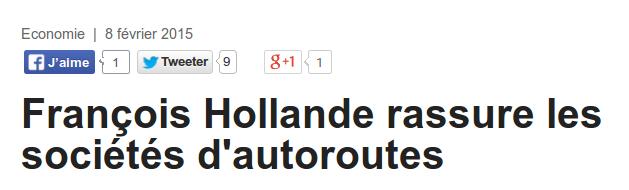 JDD Hollande autoroutes