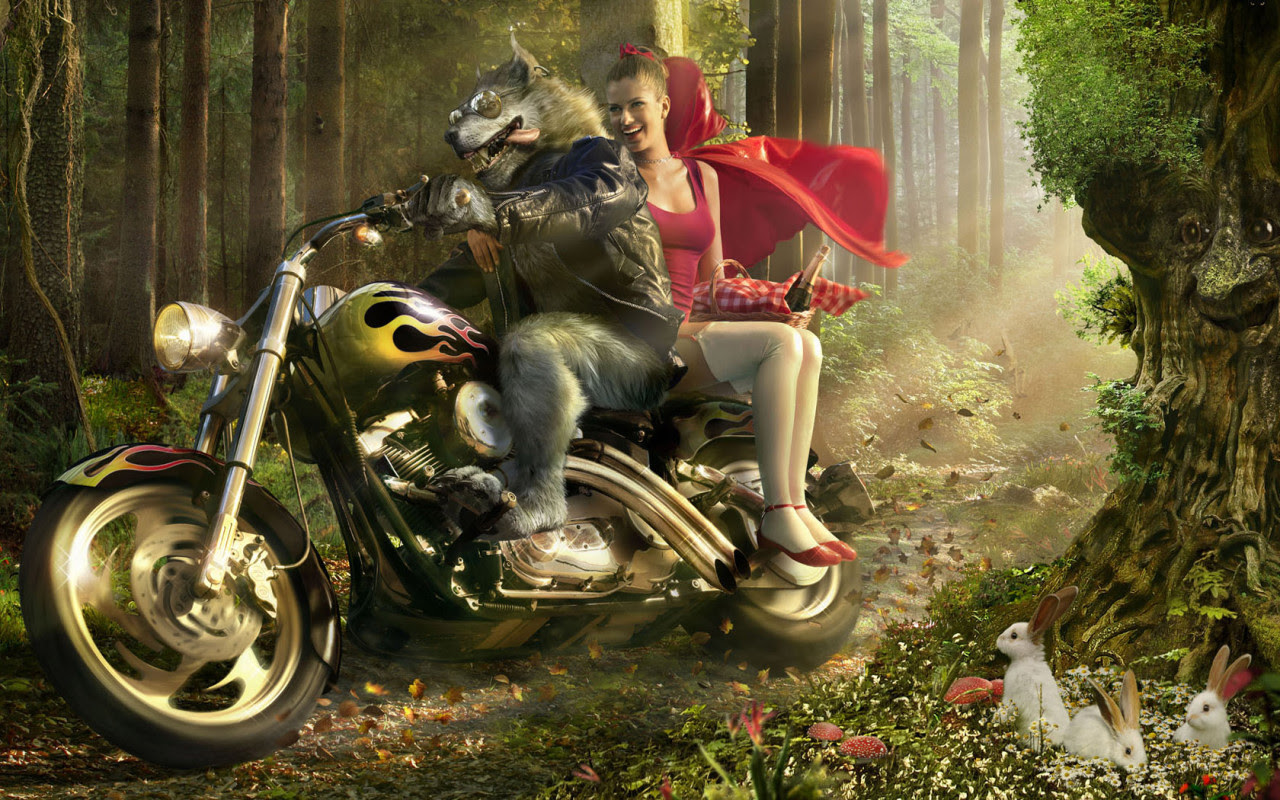 Little Red Riding Hood Parody Fairy Tales Fables Wallpaper