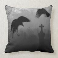 Goth Birds throwpillow