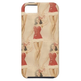 christmas pin up iPhone SE/5/5s case