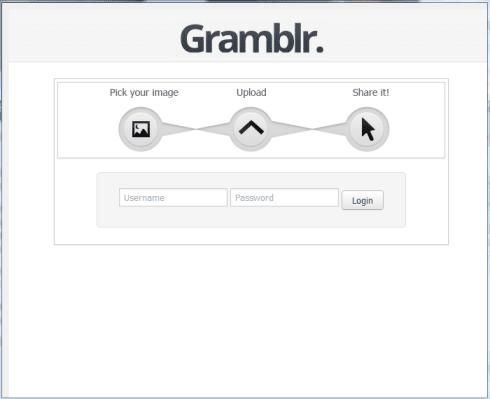 gramblr interfaz