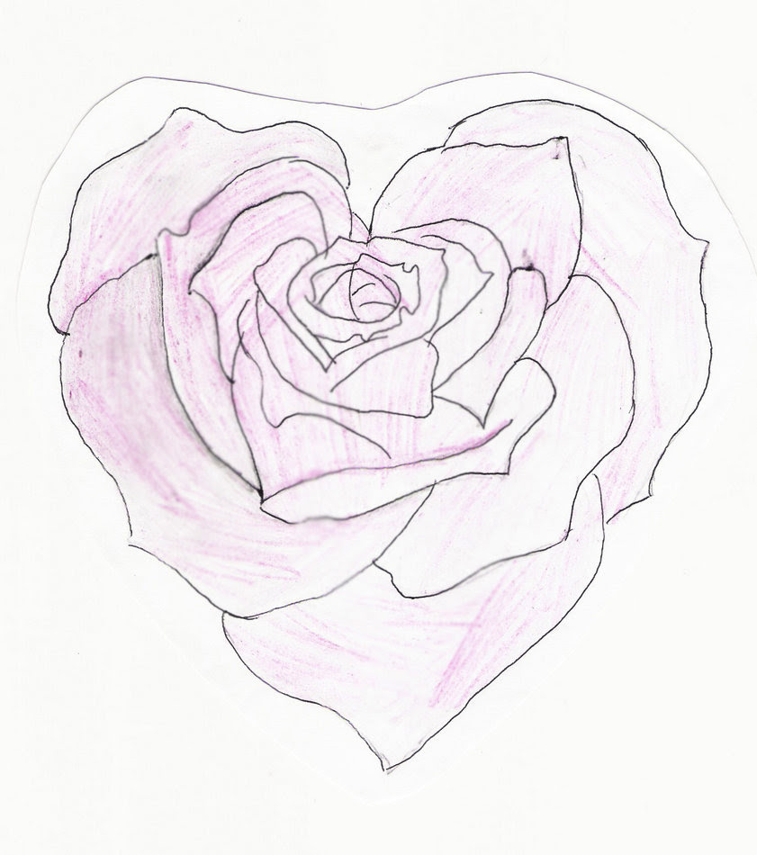 Heart And A Rose Drawing At Getdrawingscom Free For Personal Use