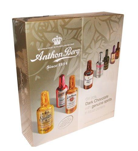 Anthon Berg Liquor Filled Dark Chocolates Holiday Gift Box Assortment (Pack of 64)